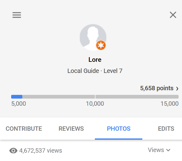 Google Maps Photos section of Your contributions